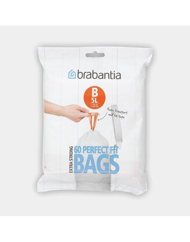 Šiukšlių maišeliai BRABANTIA 5 ltr
